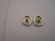 Silver & 18ct gold stud earrings with Citrines