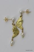 18ct Gold & Cultured Pearl Earrings